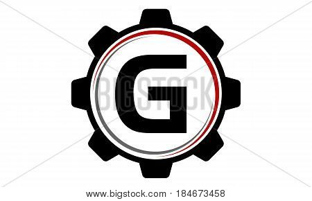 This image describe about Gear Solution Logo Letter G