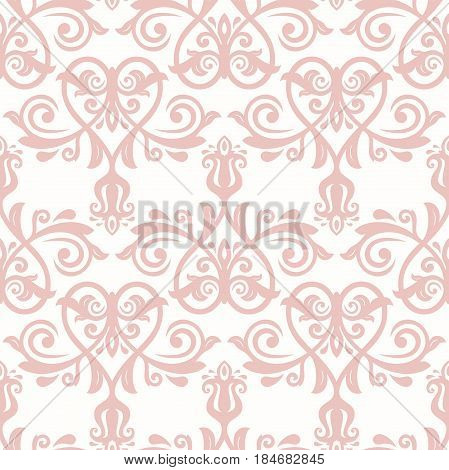 Seamless classic pink pattern. Traditional orient ornament