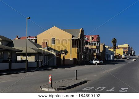 Swakopmund, South Africa, August 24: The place Swakopmund in South Africa Namibia, August 24, 2015 in Swakopmund, South Africa