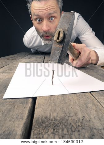 Business concept image with a concluding contract