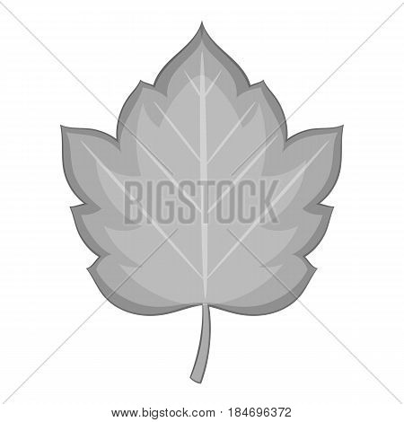Hawthorn leaf icon in monochrome style isolated on white background vector illustration