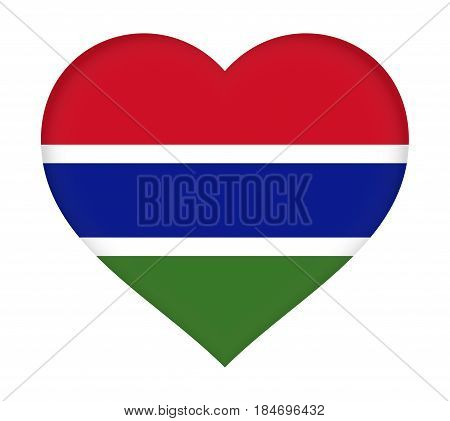 Flag Of Gambia Heart