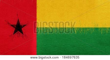 Flag Of Guinea Bissau Grunge.