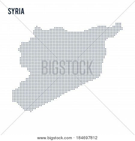 Vector dotted map of Syria isolated on white background . Travel vector illustration