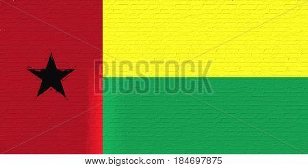 Flag Of Guinea Bissau Wall.