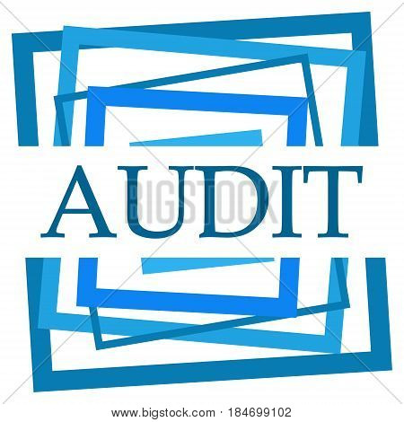 Audit text written over blue abstract background.