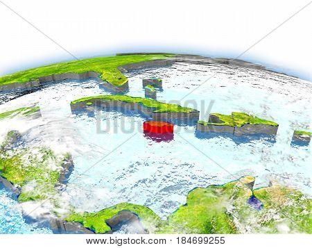 Jamaica On Globe