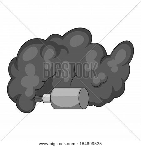 Molotov cocktail icon in monochrome style isolated on white background vector illustration