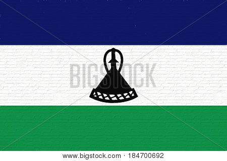 Flag Of Lesotho Wall.