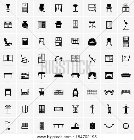 Set of sixty four pieces furniture ( shade pictures )