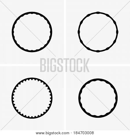 Set of four hula hoops for rotation