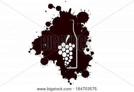 Spill the Wine..Red wine drops.Wine background vector..Design for wine..Bottle of alcohol illustration..Glasses to alcohol..Template for drink card.Suitable for posterpromotional leaflet invitation.