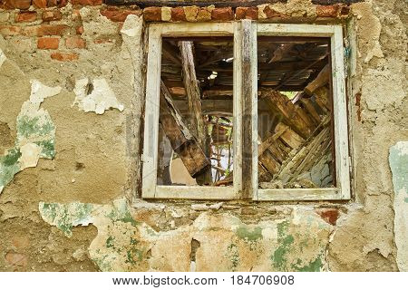 Ruined House Window