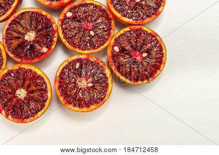 Sicilian ruby red blood oranges horizon orientation
