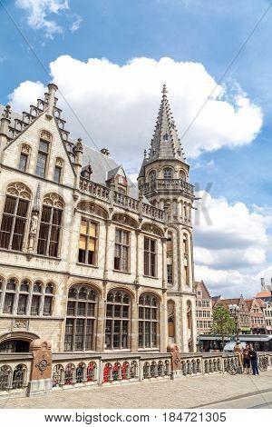 Post Office Building Of Korenmarkt In Gent