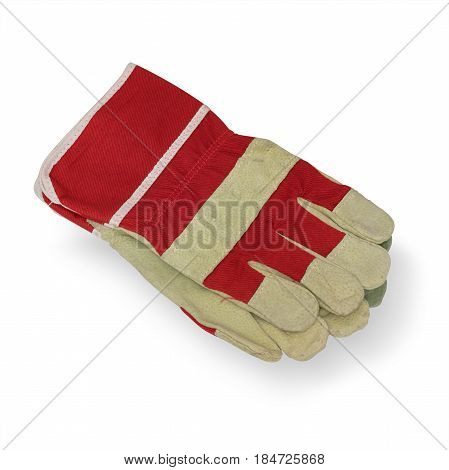 Working Gloves on a white background. It is isolated the worker of paths is present.