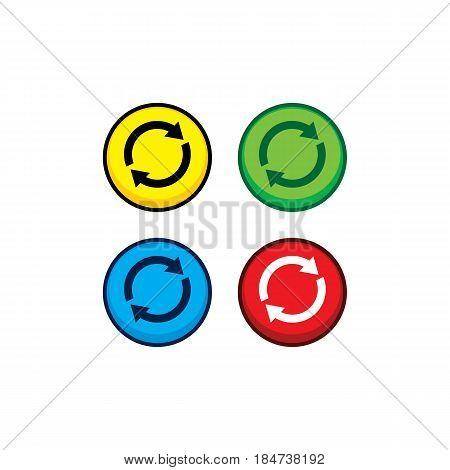 Color Game Asset Menu Icon Button Vector