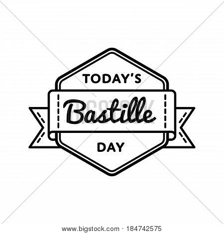 Today bastille day vector photo free trial bigstock today bastille day emblem isolated vector illustration on white background 14 july national french holiday m4hsunfo