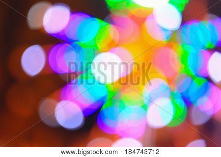 Abstract circular bokeh background of Christmaslight .