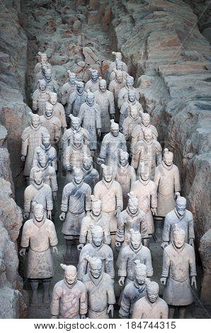 August 6, 2012 - Xian, China: Army of Terracotta Warriors near Xian, Shanxi, China