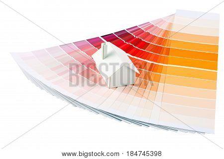 Model House On Color Palette