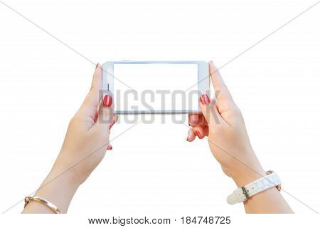 Holding Smart Phone