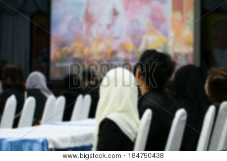 focus blur of business education seminar training conference in meeting room