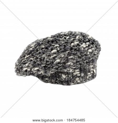 Mohair Gray French Beret