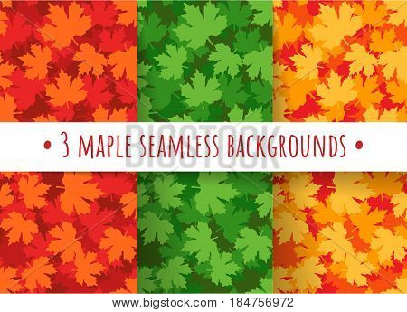 Maple Leaves Seamless Patterns
