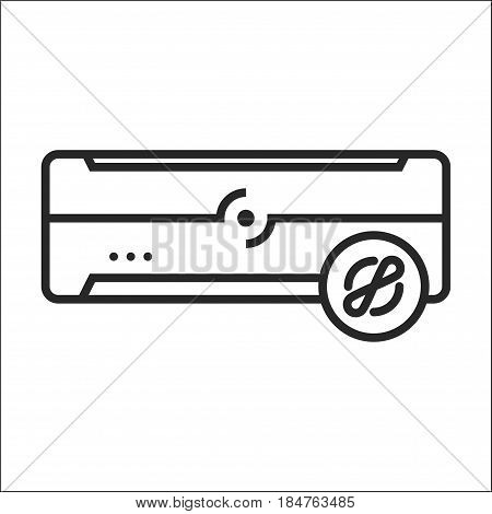 Air Conditioner Blower Mode Vector Icon