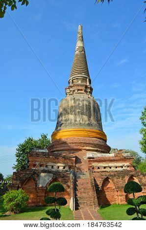 Ancient, architectural Temple complex of Buddhism, striking with its exquisite beauty and architecture of the building, the temple is decorated with flowers, secret signs. Holy symbols and drawings invite pilgrims to the knowledge of mystical knowledge an