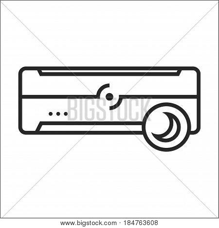 Air Conditioner Sleep Mode Vector Icon