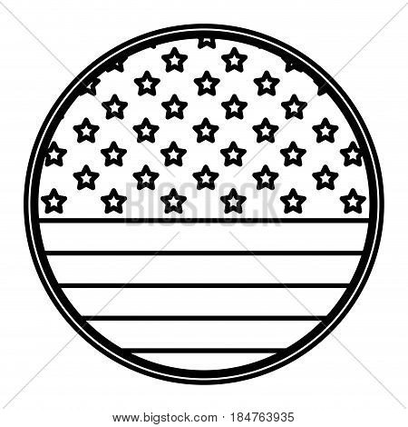 Usa seal stamp icon. United nation country and american states theme. Isolated design. Vector illustration