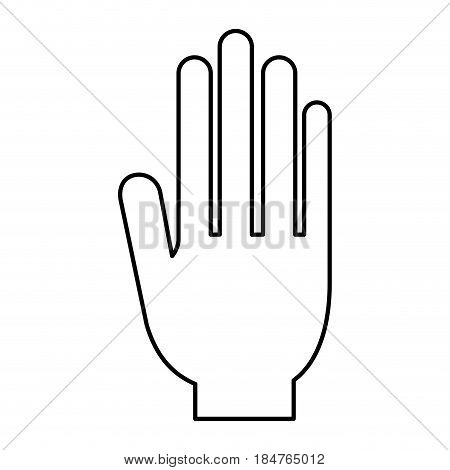 Hand icon. Vote president election government  and campaign theme. Isolated design. Vector illustration