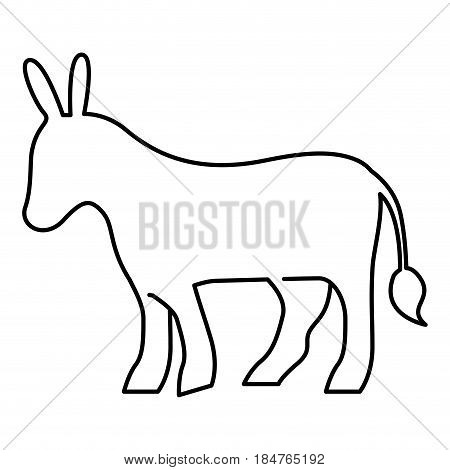 Donkey icon. Animal zoo life nature and fauna theme. Isolated and silhouette design. Vector illustration