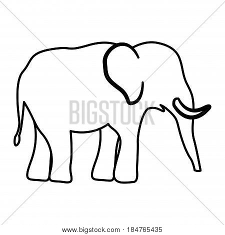 Elephant icon. Animal zoo life nature and fauna theme. Isolated and silhouette design. Vector illustration