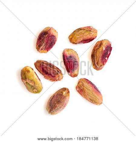 Heap Of Salted Peeled Pistachios
