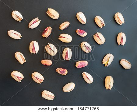 Set Of Single Inshell Pistachios And Peeled Pistachios