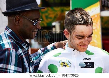 Embrace the World Cycling at Tour du Senegal 2017 Lucas Carstensen