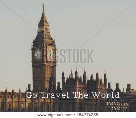Go Travel Inspirational Phrase Concept
