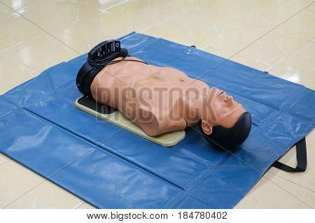 CPR dummy training for emergency refresher training to assist