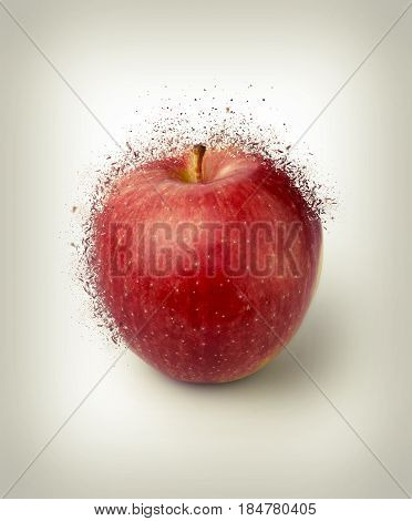 Ripe Red Apple.shattered