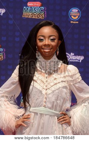 LOS ANGELES - APR 29:  Skai Jackson at the 2017 Radio Disney Music Awards at the Microsoft Theater on April 29, 2017 in Los Angeles, CA
