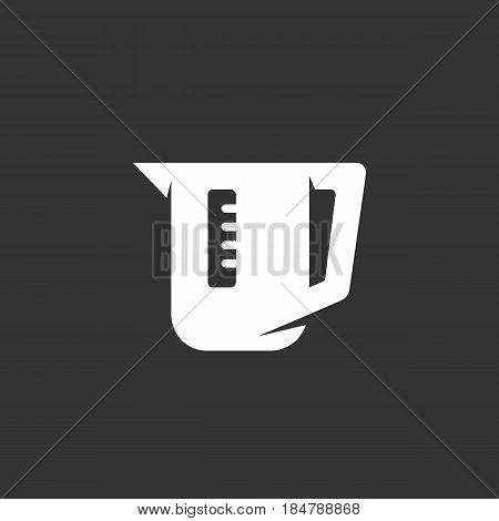 Electric kettle vector logo isolated on a black background. Icon silhouette design template. Simple symbol concept in flat style. Abstract sign pictogram for web mobile and infographics