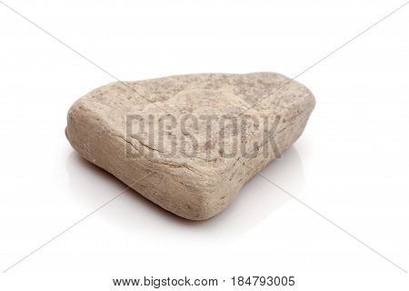 Stone of granite isolated on white background.