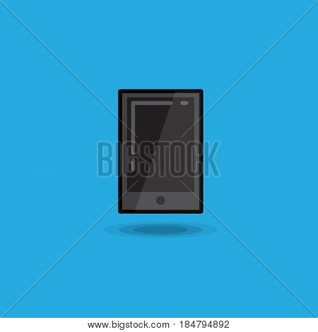 Vector illustration tablet pc on blue background. Illustration tablet ipad icon isolated