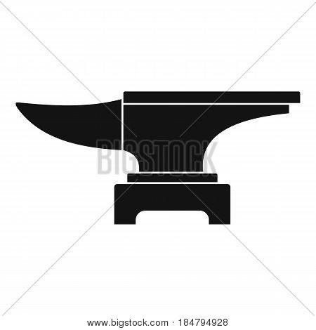Heavy black metal anvil icon in simple style isolated vector ill