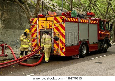 Firemen And Truck