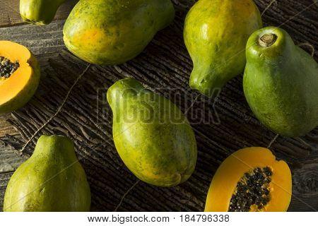 Raw Organic Green Hawaiian Papaya