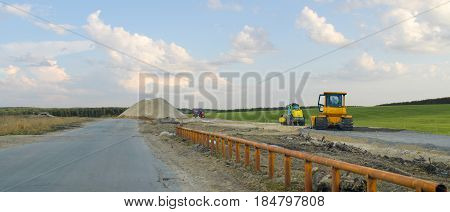 The construction of the road out of town.